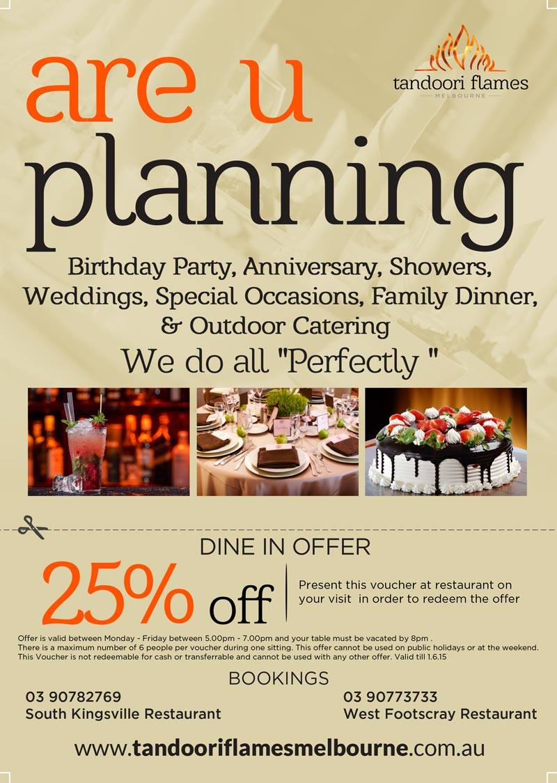 Celebrate Your Special Occasions at Tandoori Flames
