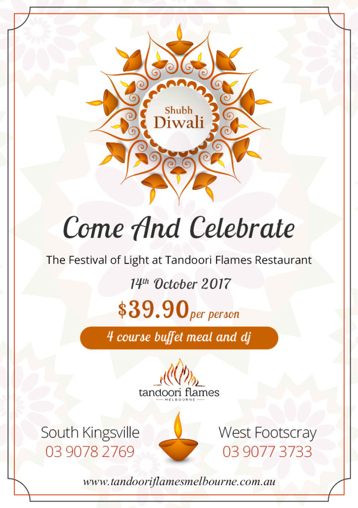 Diwali Celebration at Tandoori Flames
