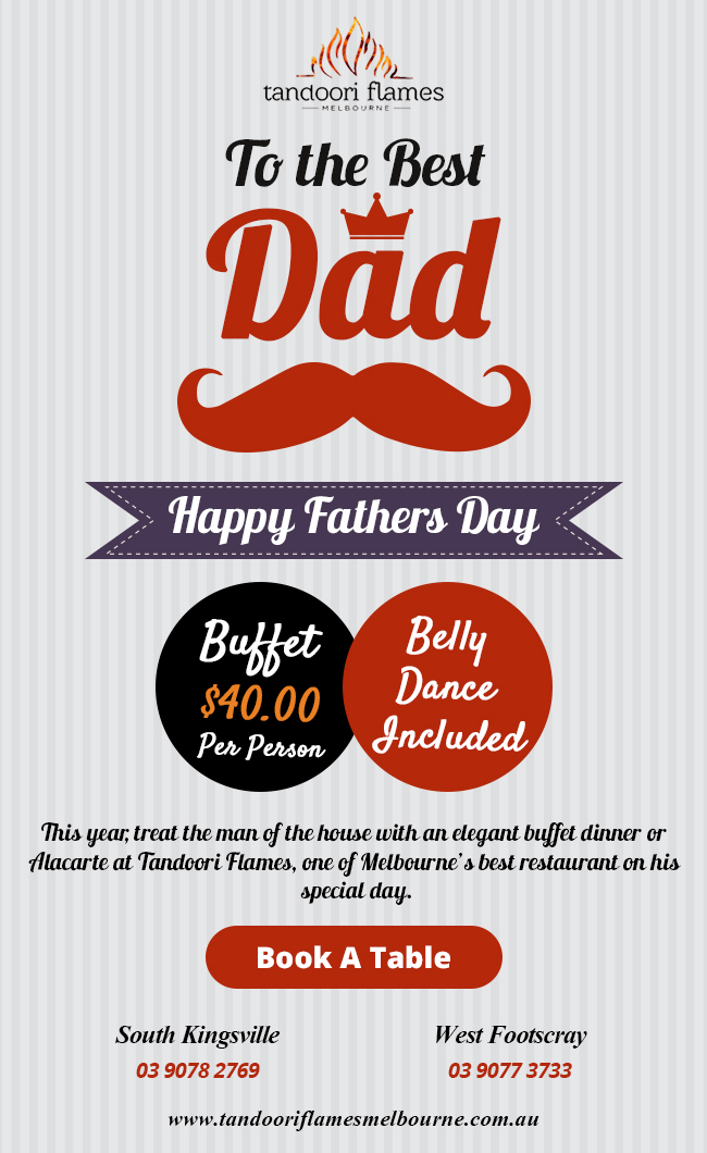 Father's day at Tandoori Flames Restaurant