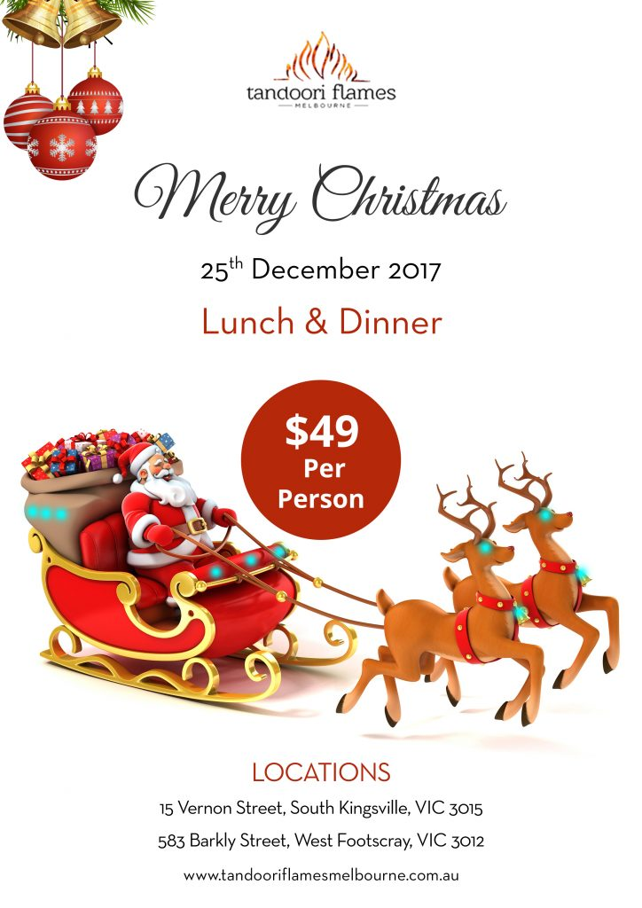 Christmas Day Lunch and Dinner Melbourne