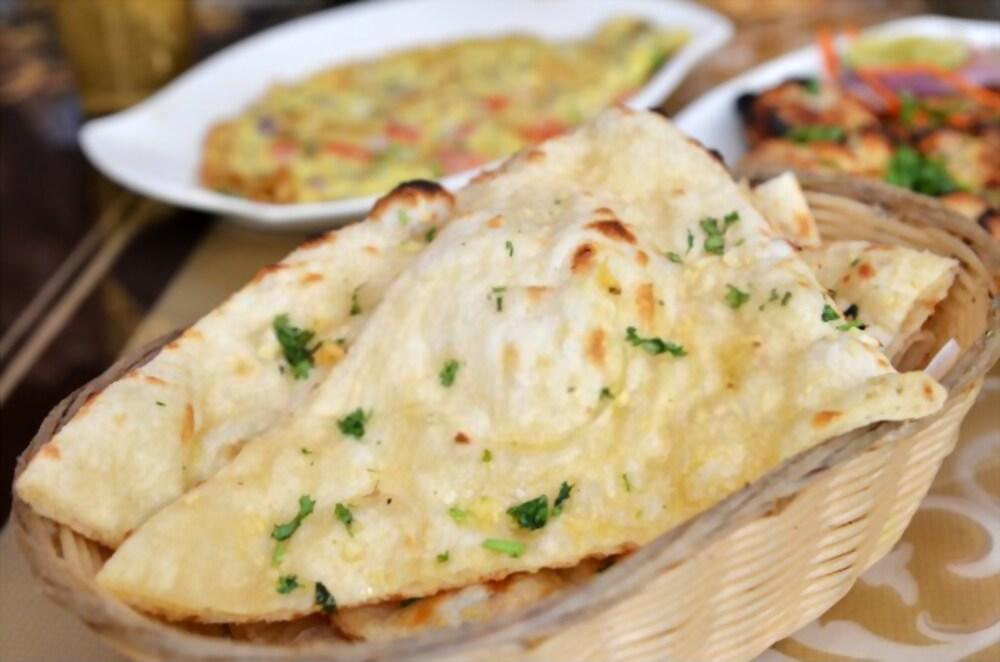 Garlic and Basil Naan